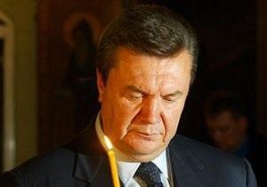 В воскресенье Янукович будет молиться на Афоне