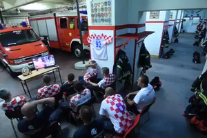 Хорватські пожежні вразили швидкістю, зірвавшись з перегляду пенальті