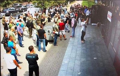 Появились подробности  атаки  активистов на НАБУ