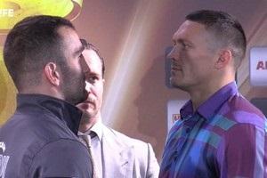 Усик - Гассієв: боксери провели битву поглядів