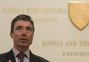 Расмуссен подтвердил возможное будущее членство Грузии и Украины в альянсе