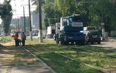 В Одесі трамвай зійшов з рейок