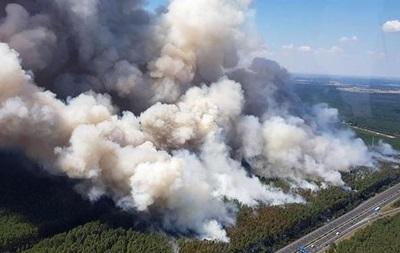К Берлину приближается крупный лесной пожар