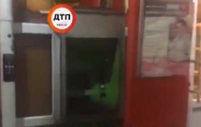 Всупермаркете Киево-Святошинского района взорвали банкомат