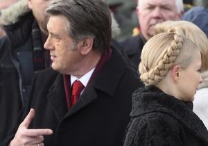 Тимошенко об отношениях с Ющенко: Это уже не вылечится