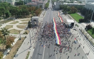 У Кишиневі мітингують за об єднання Молдови з Румунією