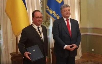 Порошенко нагородив Олланда орденом Свободи