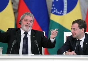 Медведев оценил шансы президента Бразилии договориться с Ахмадинеджадом по ядерной программе