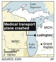 В озеро Мичиган упал санитарный самолет