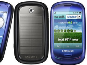 Samsung презентовала мобильный телефон на солнечной батарее