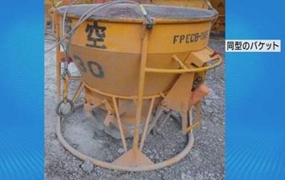 В Японии вертолет разлил в полете 600 кг жидкого бетона