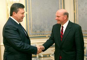 Янукович встретился с гендиректором Microsoft