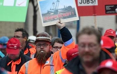 В Германии тысячи шахтеров протестовали против отказа от угля