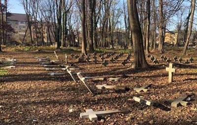 В Коломые повалили кресты на польском кладбище
