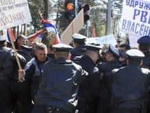 Сербские инвалиды вступили в бой с боснийской полицией