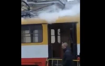 В Одессе горел трамвай