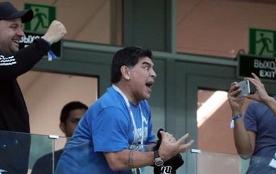 Марадона не смог дать интервью
