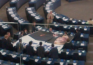 В зале Европарламента разместили плакат Юлии - свободу