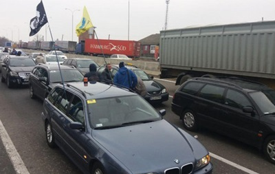 In many checkpoints, eurobliders raised the blockade