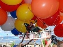 Житель США перелетел в соседний штат на воздушных шарах