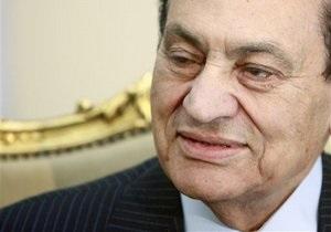 Мубарак отказывается принимать пищу