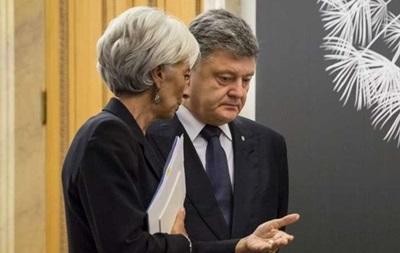 Порошенко проведе переговори з главою МВФ