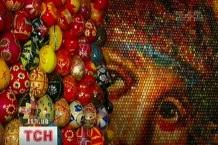В Софии Киевской представили уникальное панно Богоматери из 15 тысяч писанок