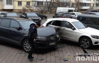Появилось видео момента подрыва авто в Киеве