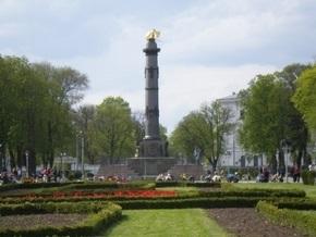 В Полтаве неизвестные облили краской памятник Славы