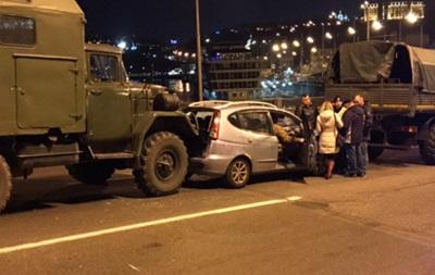 В центре Киева военные устроили ДТП