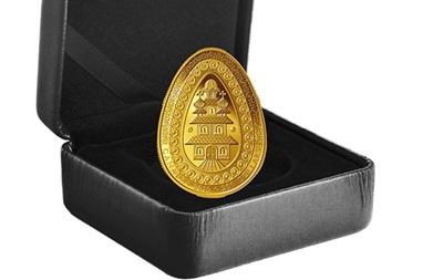 У Канаді випустили золоту монету у формі української писанки