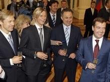 Зенит и Медведев выпили шампанского