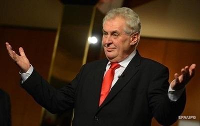 Земан поздравил Зеленского с победой на выборах
