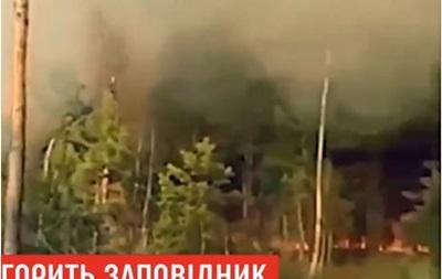У Рівненській області горить заповідник