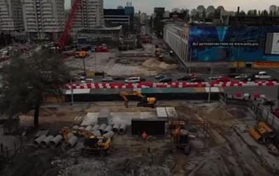 Київська Шулявка без моста: відео з дрона