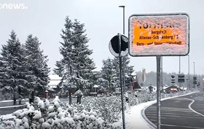 В Германии выпал снег и ожидаются заморозки