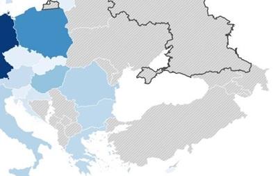 Сайт о выборах в ЕC показал Украину без Крыма