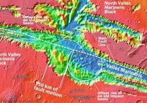 Планетологи проследили за движением тектонических плит на Марсе