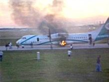 У взлетавшего  в Мюнхене самолета загорелось шасси