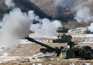 Южная Корея начала учения на границе с КНДР