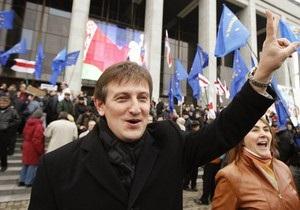 Кандидат в президенты Беларуси попал в автомобильную аварию