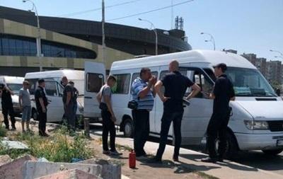 В Киеве маршрутку закидали  коктейлями Молотова