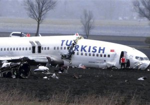 Специалисты назвали причину прошлогоднего крушения самолета Turkish Airlines в Амстердаме