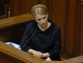 Тимошенко: Экономический кризис не замедлится