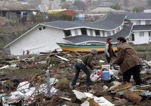 Число жертв землетрясения на побережье в Чили превысило 700 человек