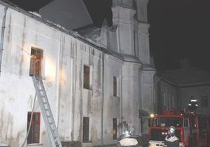 Во Львовской области горел костел XVI века