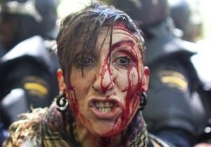 Фотогалерея: Враг внутри. Массовые драки шахтеров с полицией в центре Мадрида