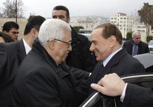 Берлускони не заметил восьмиметровую стену, разделяющую Израиль и Палестину