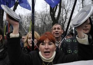 Протестующие предприниматели передали свои требования Администрации Януковича