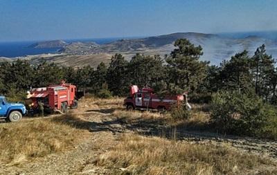 В Крыму произошел масштабный природный пожар